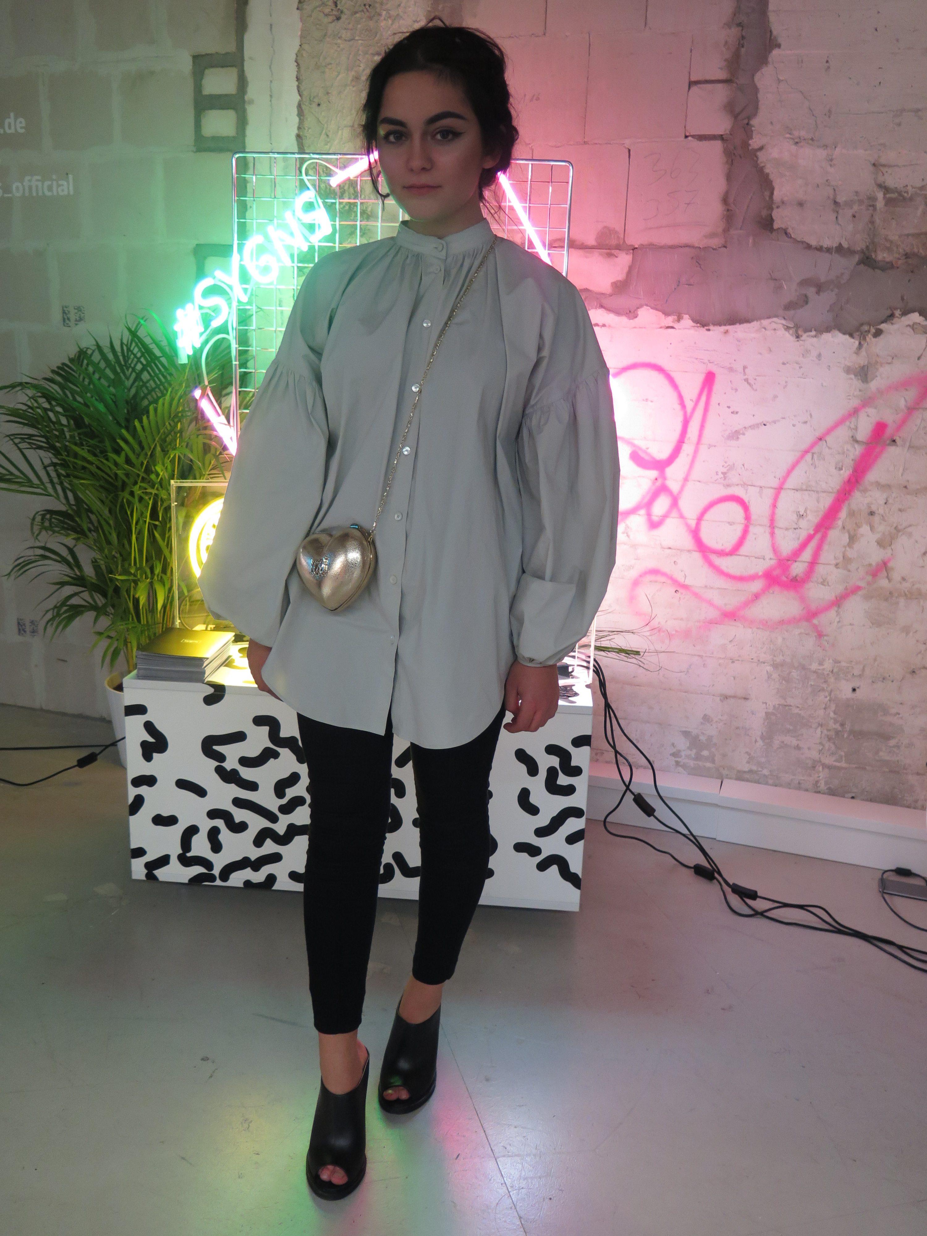 Moschino Silver Heart Bag