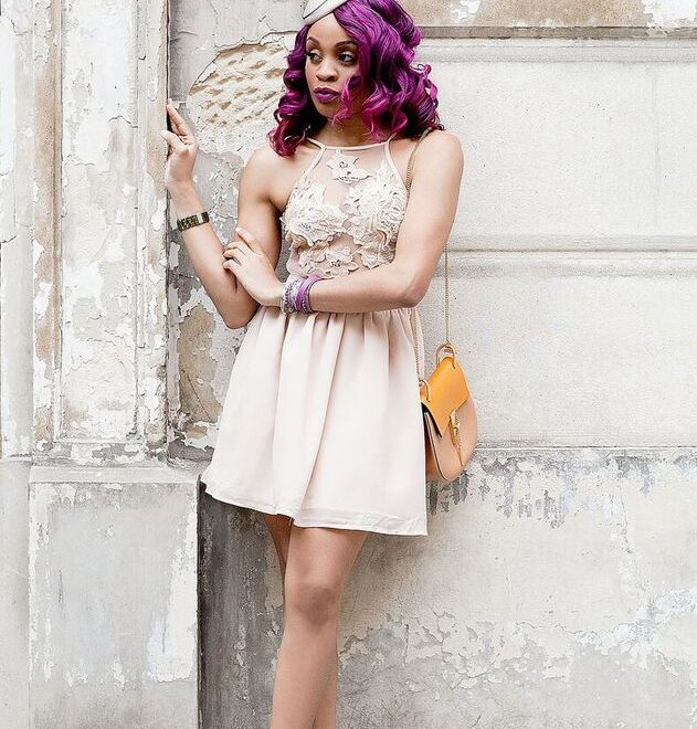 Purple hair extensions inspiration