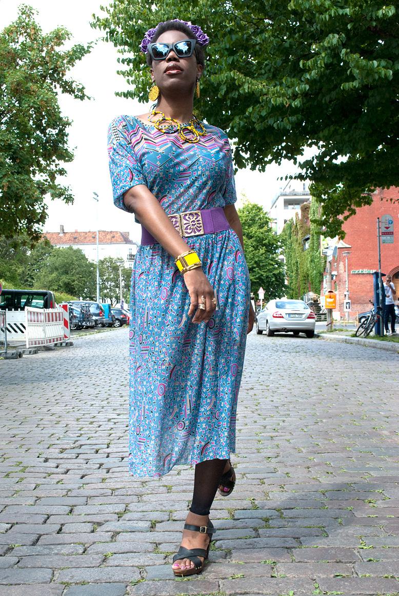 vintage summer midi dress