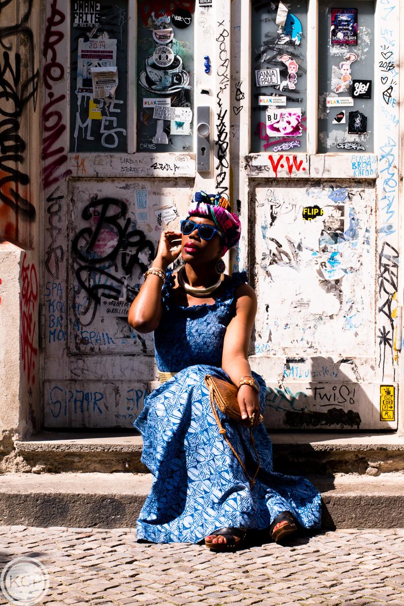 African batik print dress