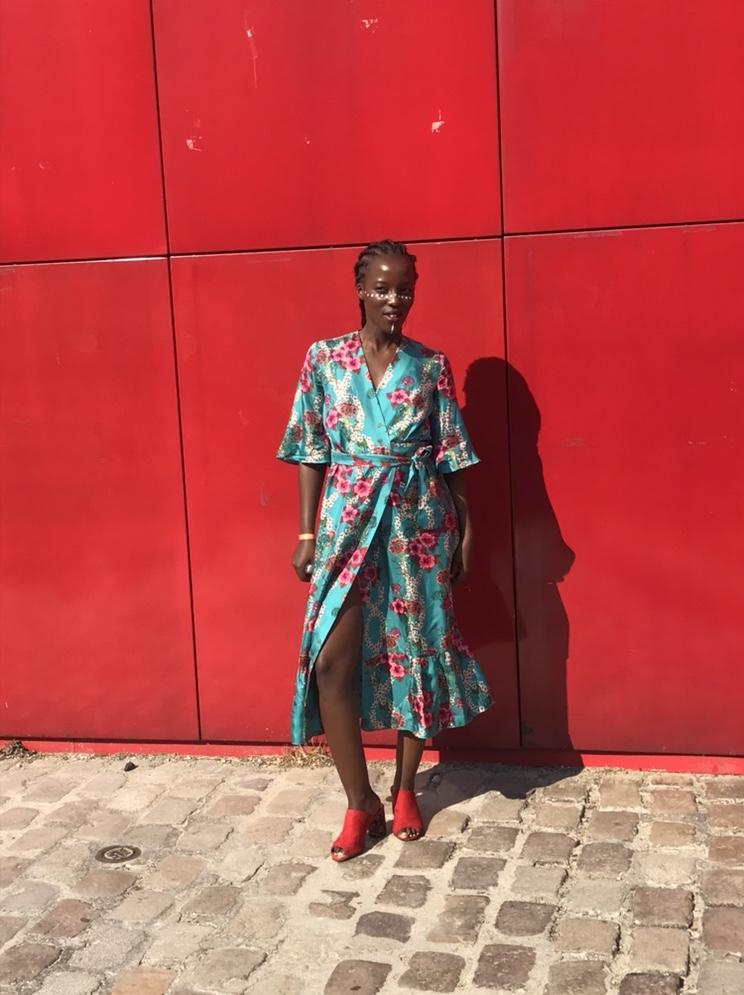 summer print dress