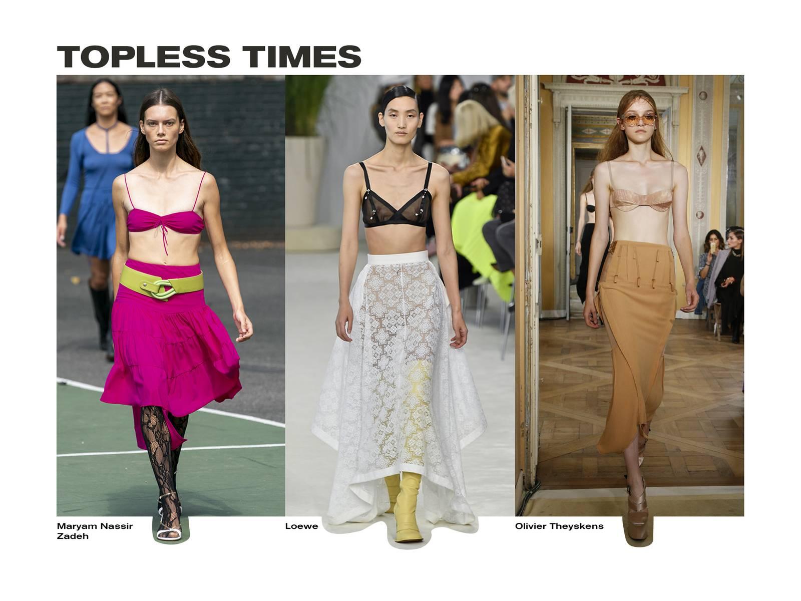 Spring fashion trend lingerie