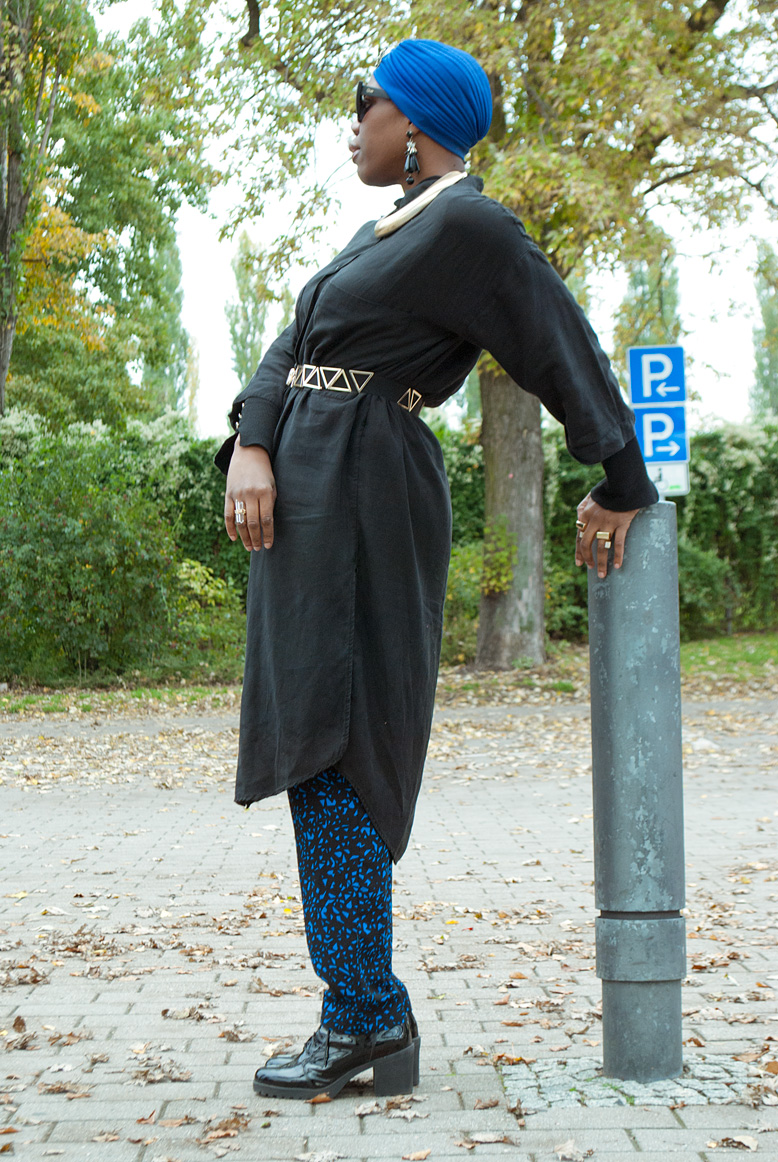 shirt dress with trousers