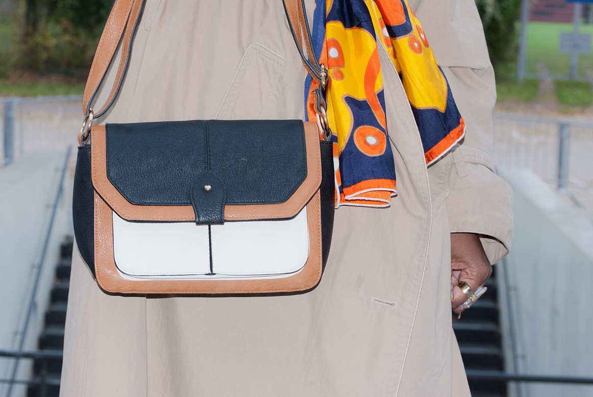 Multi coloured satchel