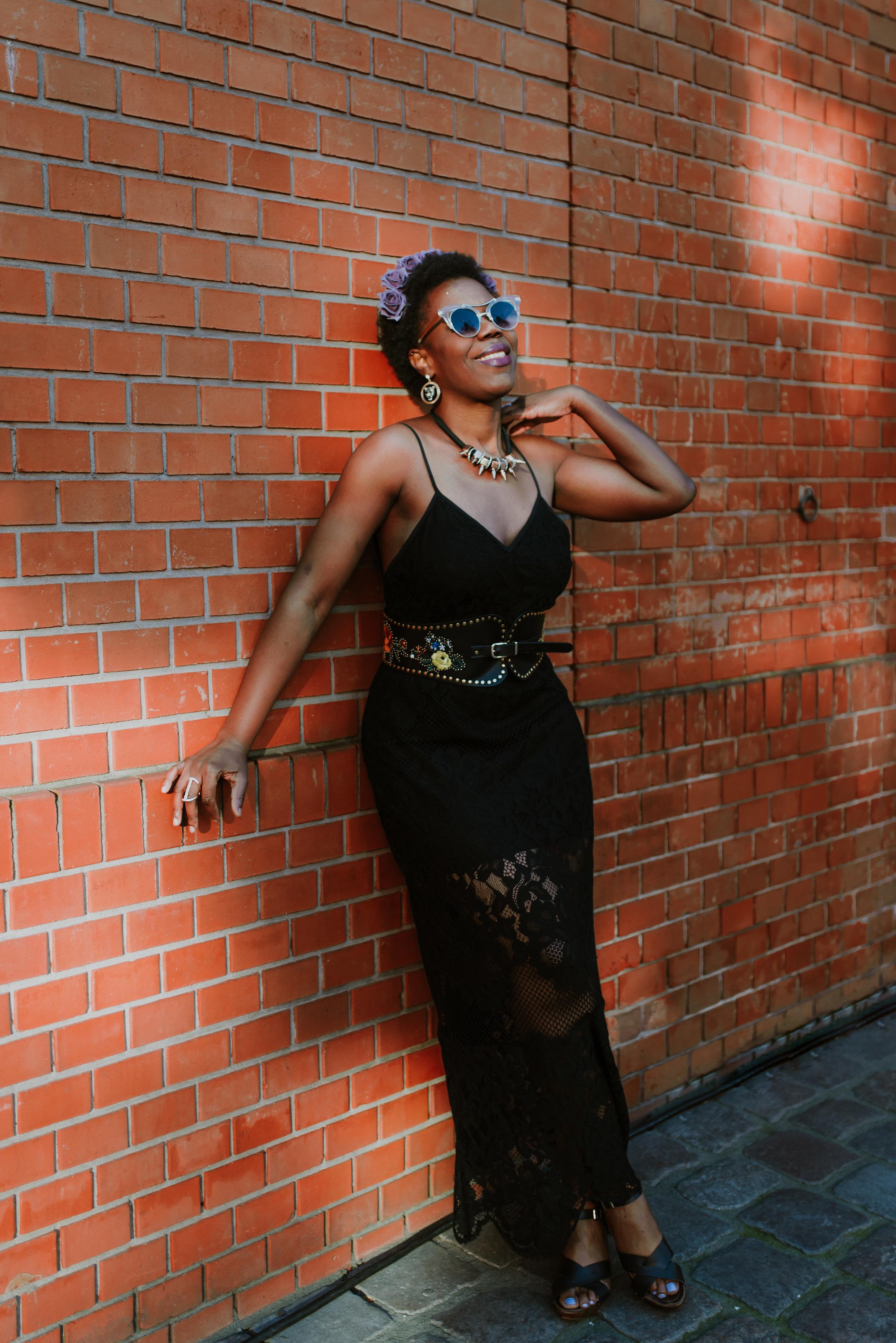 Tobi.com maxi black dress