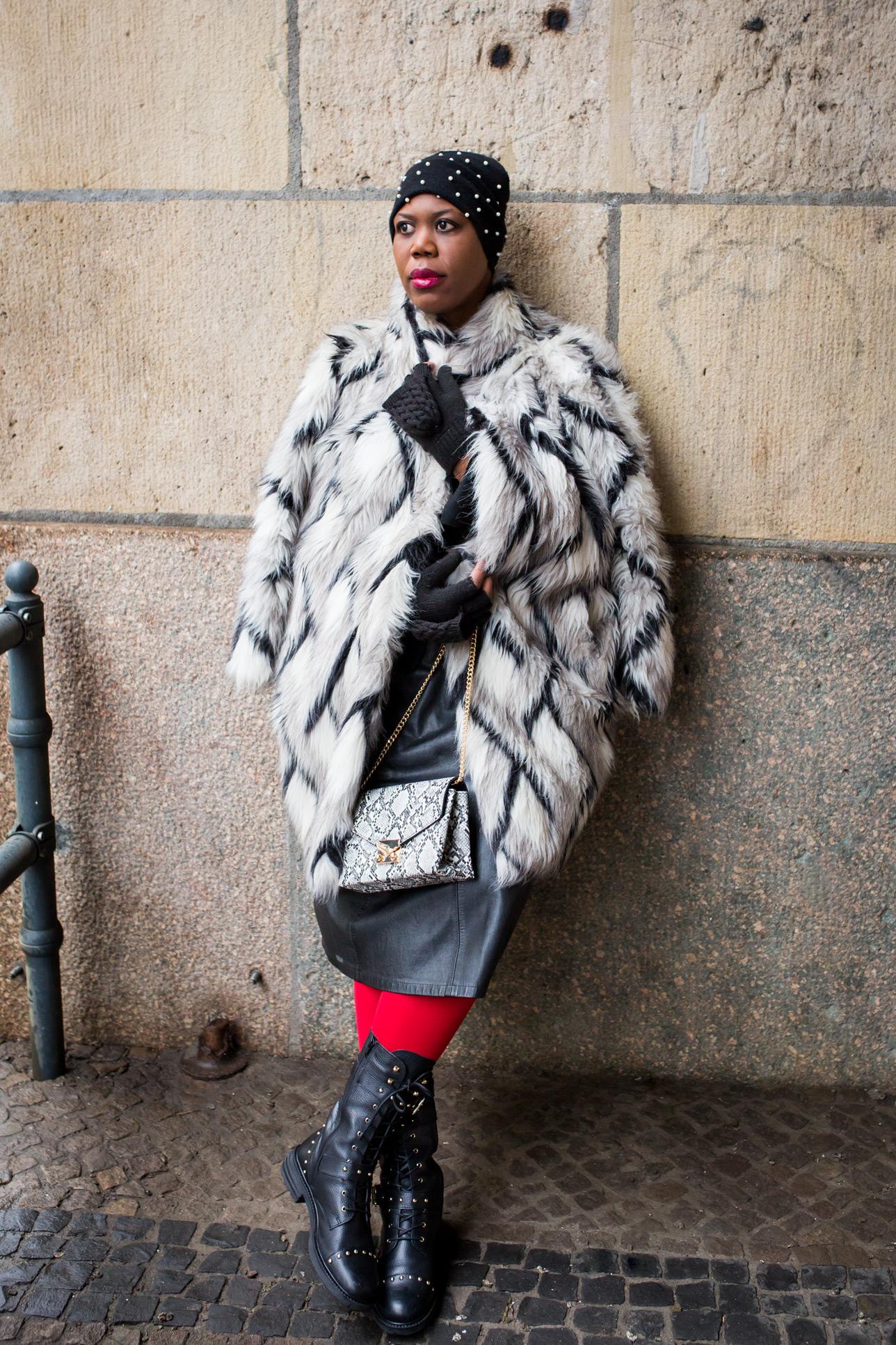 big fur coat