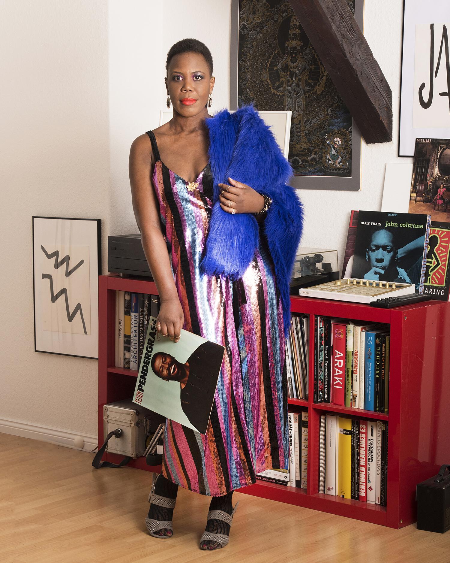 striped sequins dress Zara