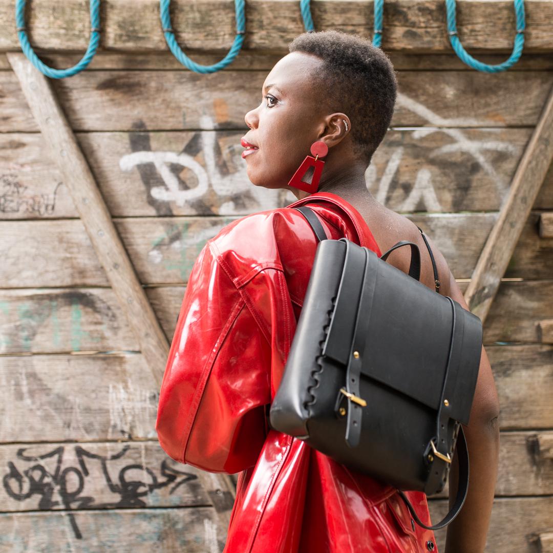 Black rucksack by LAMA
