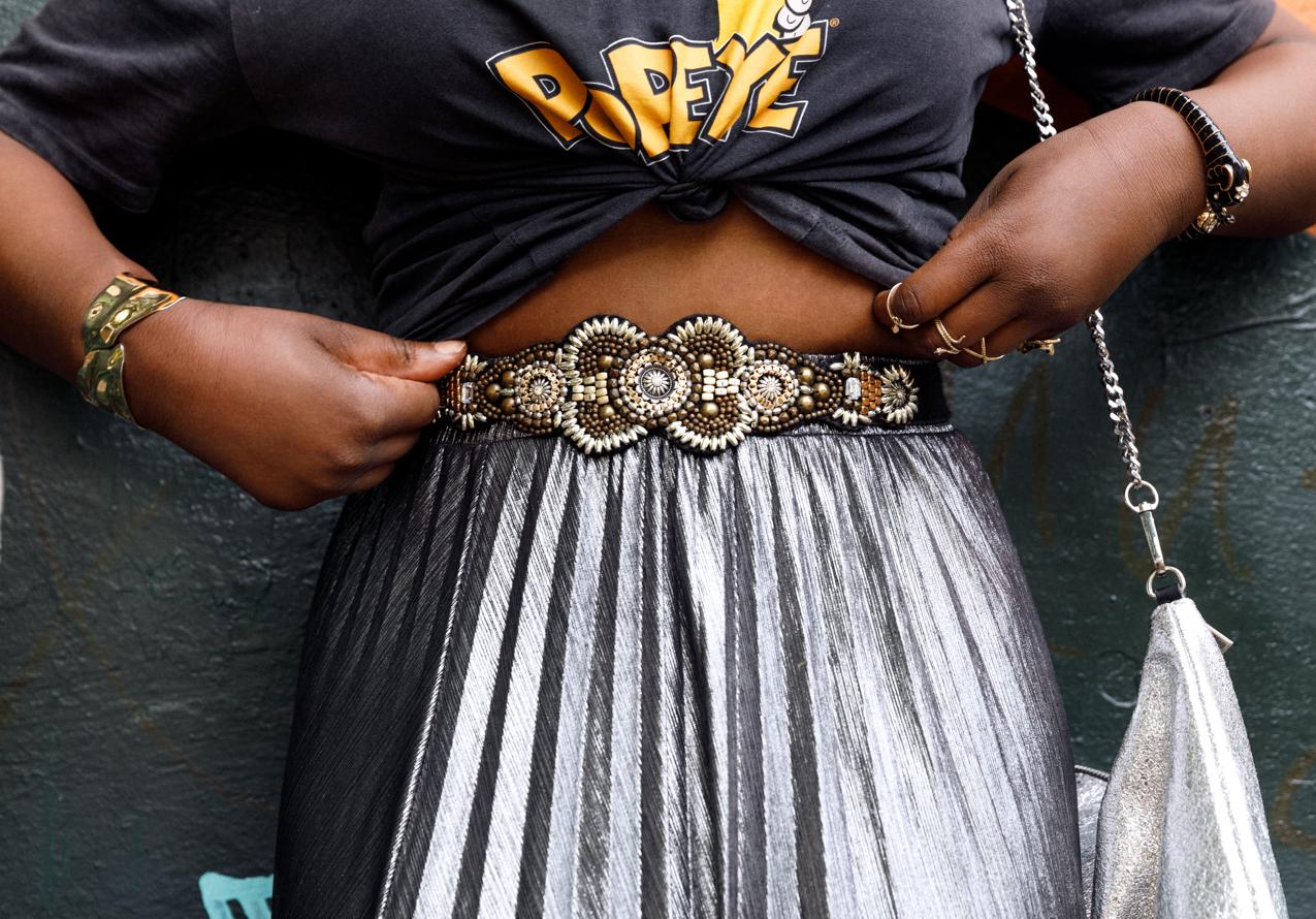 Embellished beaded belt